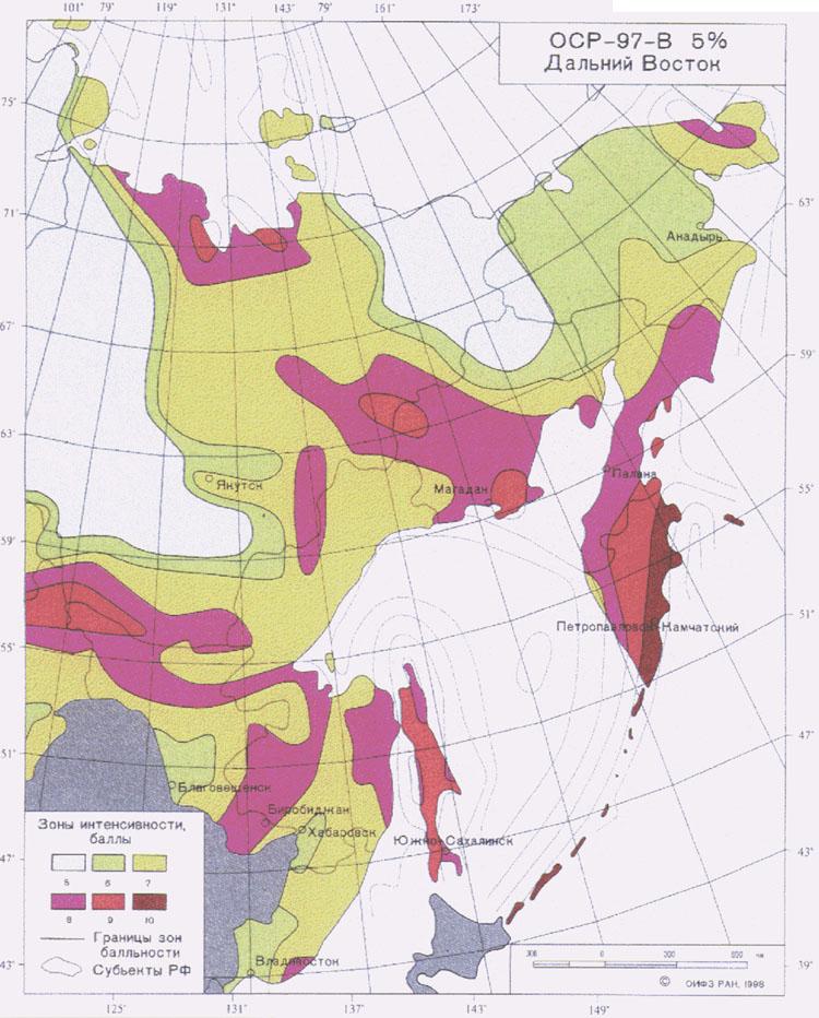 Worksheet. SNIPCOM  Seismic Data Russian Far East Map B